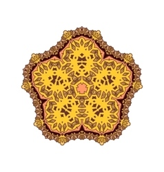 Mandala round ornament patter vector