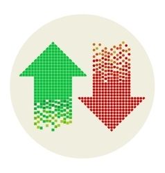 mosaic arrows - vector image vector image
