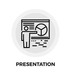 Presentation line icon vector