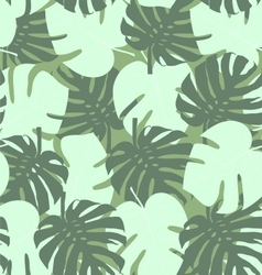 Seamless camouflage pattern of palm leaf green vector