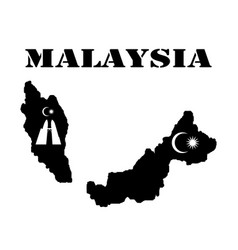 Symbol of malaysia and map vector