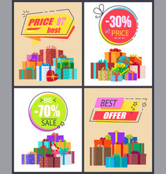 Total sale best prices discount final offer labels vector