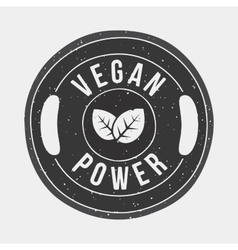Vegan power gym vector image vector image