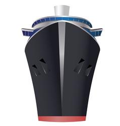 Vintage ocean liner3 vector
