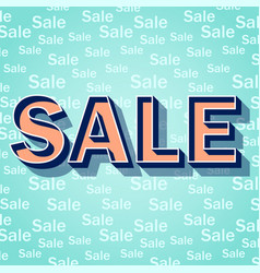 word sale on blue background vector image