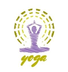 Yoga Emblem vector image vector image