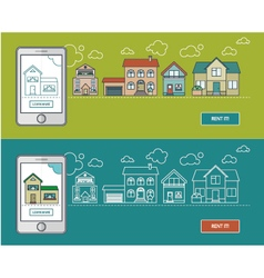 Banner mobile home vector