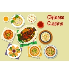Chinese cuisine icon for oriental dinner design vector
