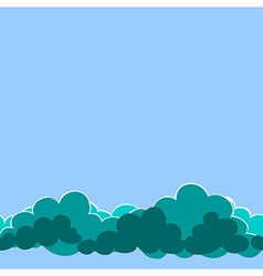 Seamless clouds on the sky vector