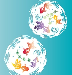 Japanese Gold Fishes vector image