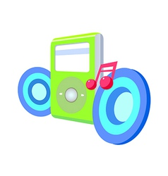 Icon music player vector