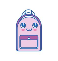 Backpack kawaii cartoon vector