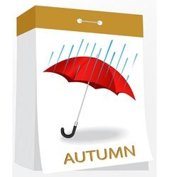 Wall tear off calendar autumn vector image