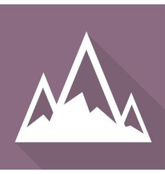 Mountains web icon vector