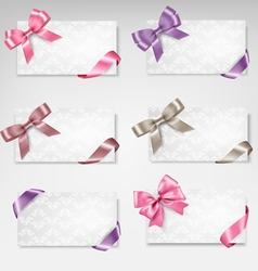 Set of beautiful gift cards with colorful gift vector image