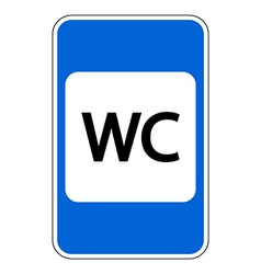 Toilet road sign vector