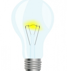 Simple glass light bulb vector