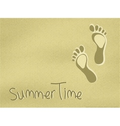 Footprints on the sand vector image