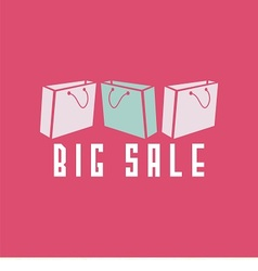 Sale poster with pockets for shopping vector