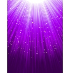 Stars on purple striped background eps 8 vector
