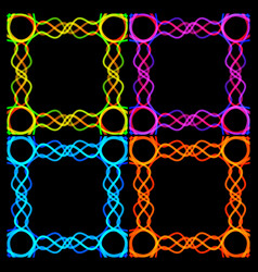 a set of frames from bound strips vector image