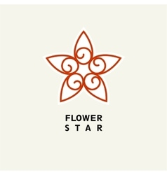 Abstract Flower Template for logo emblem vector image vector image