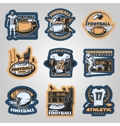 American football competitions emblems vector