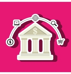 Bank money buy building vector
