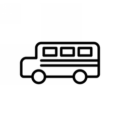 Bus Outline Icon vector image vector image