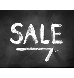 Chalk drawn Sale word vector image vector image