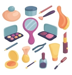 Cosmetics icons set cartoon style vector image