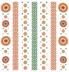 Dymkovo seamless pattern vector image