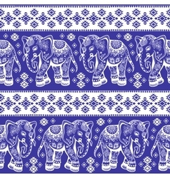 Ethnic elephant seamless vector image