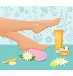 Female feet spa concept vector