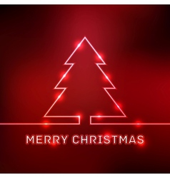 Glowing Merry Christmas typographic card vector image vector image