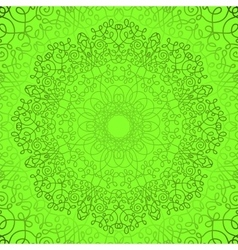 Green circle lace doily pattern vector