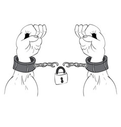 Hands in chains vector