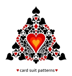 Heart card suit snowflake vector image vector image