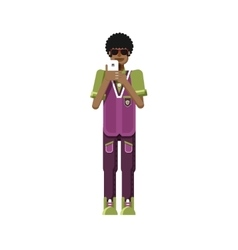 isolated of African American man dark vector image vector image