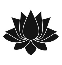 Lotus icon simple style vector