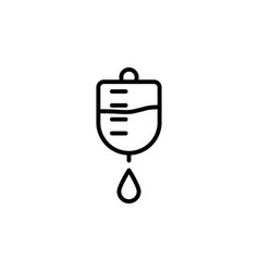 Medical drop counter black icon on white vector