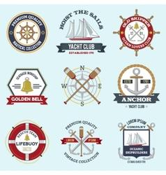 Nautical labels set vector