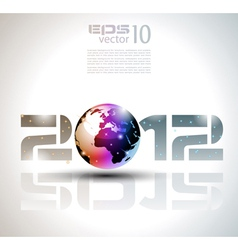 new year world vector image