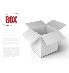 Realistic Open Package Box Paper vector image