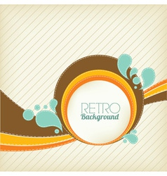 retro template vector image