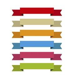 Ribbons set for write inside differents colors vector