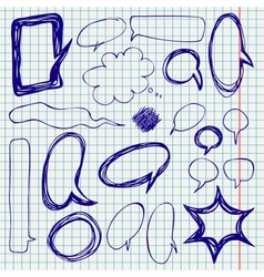 Speech Bubbles Doodles on Notepaper vector image
