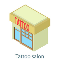 tattoo building salon icon isometric 3d style vector image