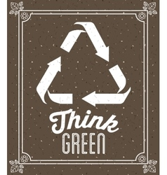 think green design vector image vector image