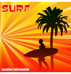 Tropical Surfer vector image vector image